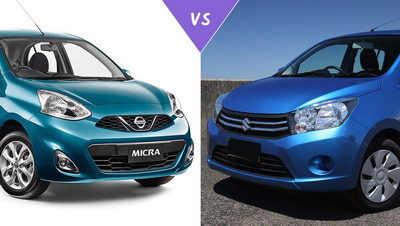 Perbandingan antara Nissan New March vs. Suzuki Celerio