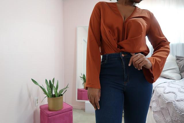 ASOS satin blouse