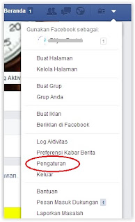 Pengaturan di Facebook
