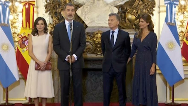 Rey de España genera polémica en Argentina