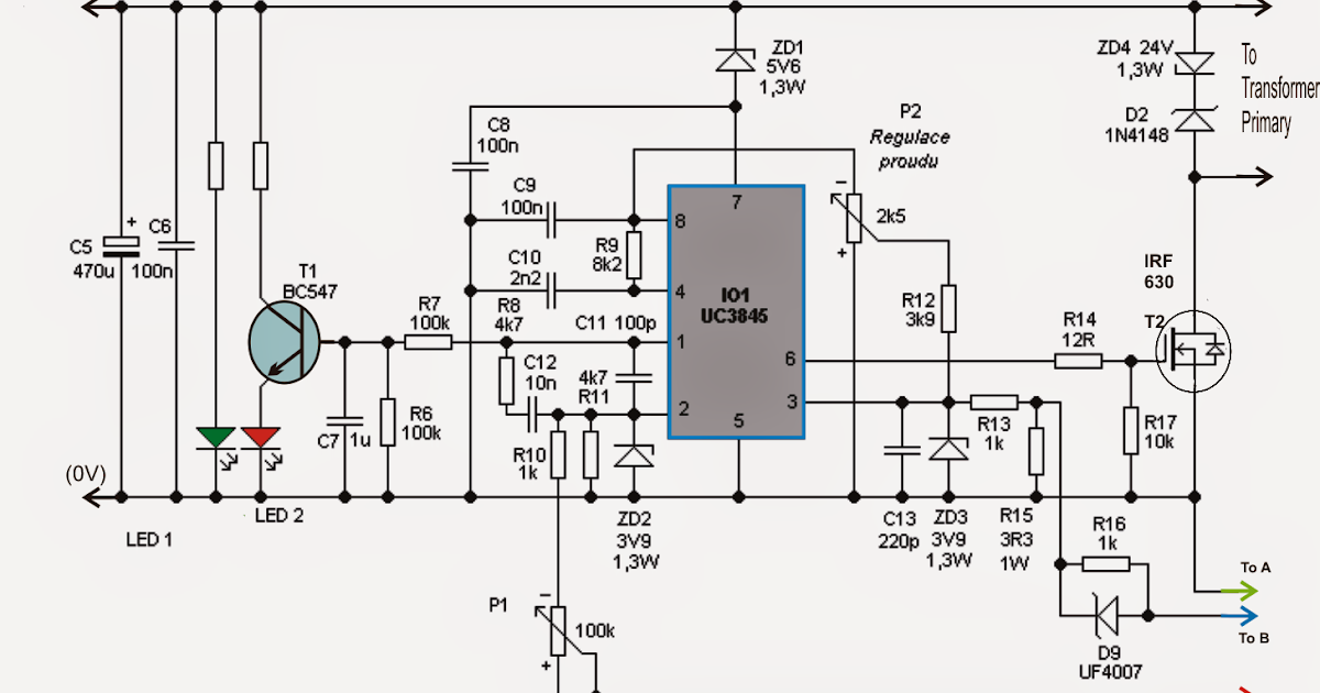 Adjustable 0-100V 50 Amp SMPS Circuit ~ Electronic Circuit