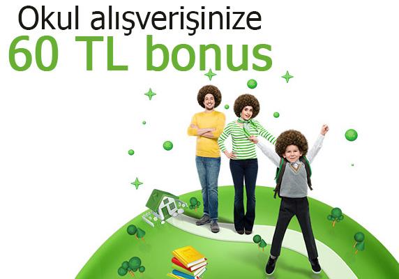 BonusFlaş uygulaması, Bonus kredi kartı KAMPANYASI, 60 tl bonus kampanyası