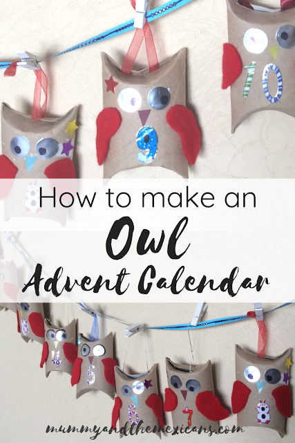 How To Make A Cute and Simple Owl Advent Calendar From Recycled Toilet Roll Tubes