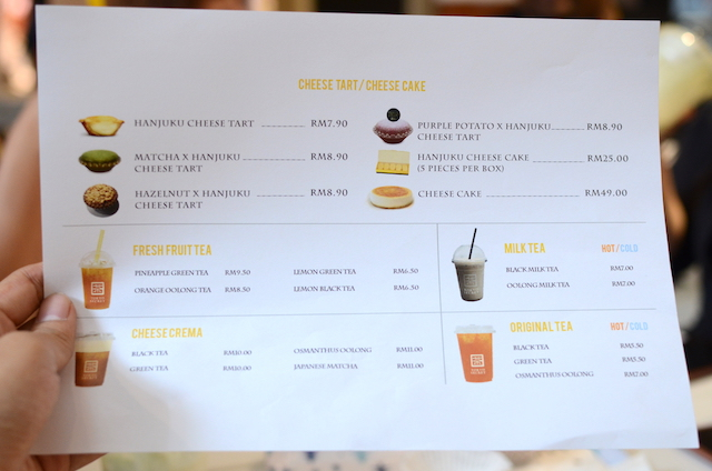Full price list of the their offerings