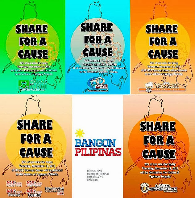 dine for a cause typhoon yolanda