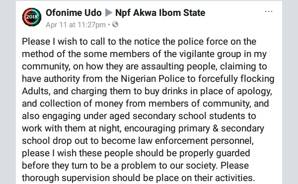 Members of vigilante group in Akwa Ibom community assault people, force them to buy drinks in place of apology - Man alleges