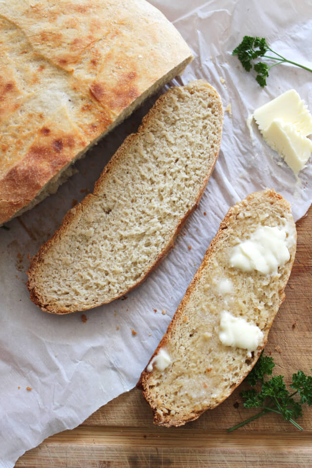 This Rustic Crock Pot Bread is proof that making a delicious loaf of fresh bread in your crock pot couldn't be easier!  Who knew?!