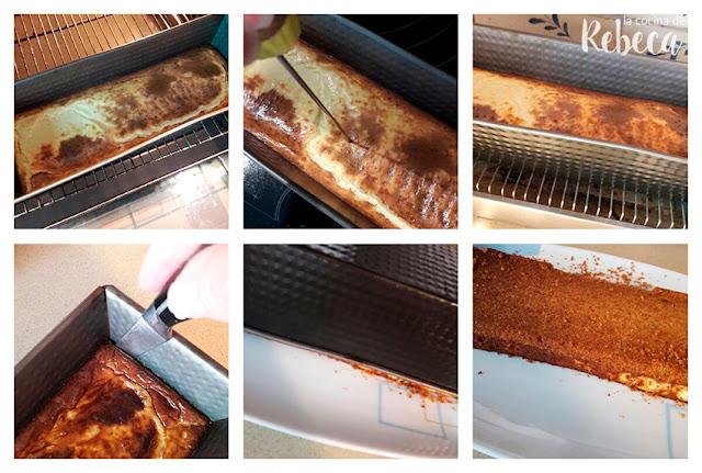 Receta de tarta (salada) de queso, uvas y nueces: el desmoldado