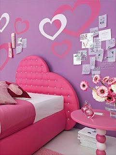 Dormitorio color rosa y lila