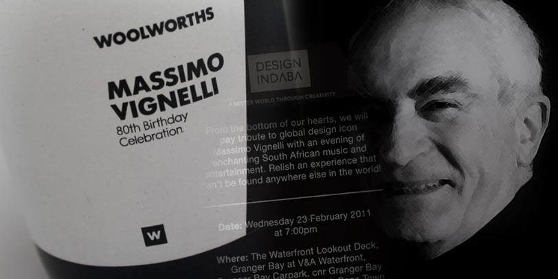 Meeting My Design Heroes - Massimo Vignelli