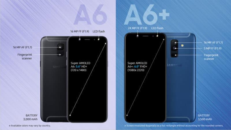Galaxy A6 و A6 Plus
