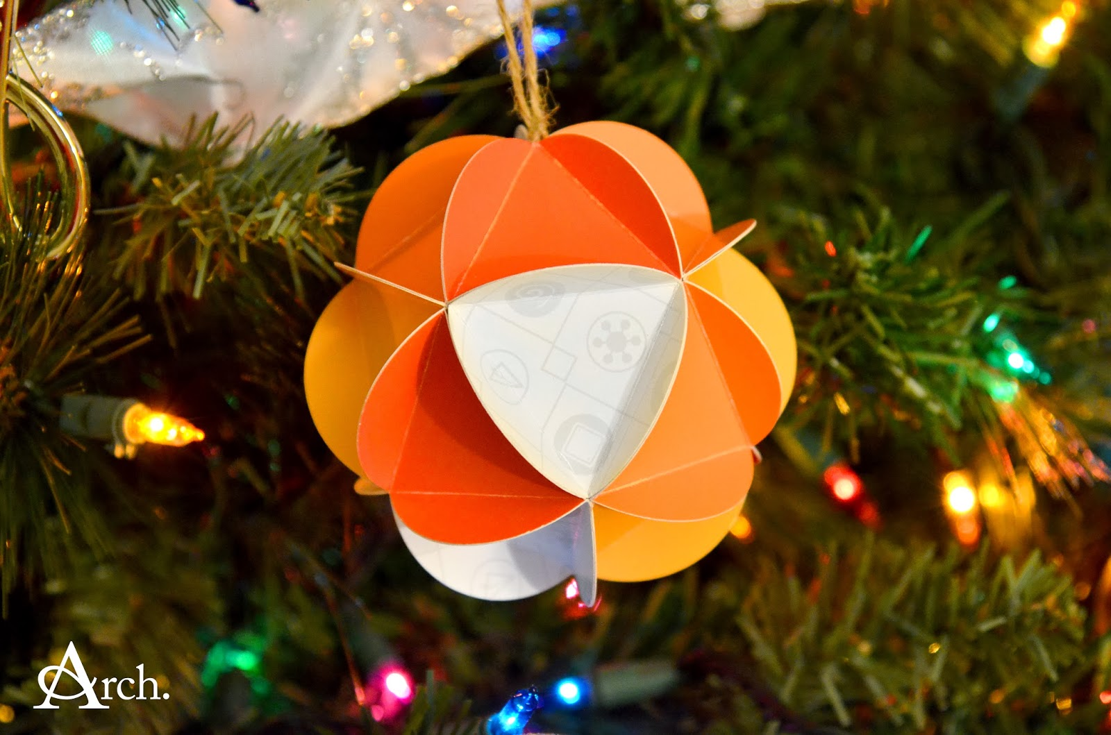 Andrea Arch: 12 Days of DIY Ornaments: Christmas Card ...