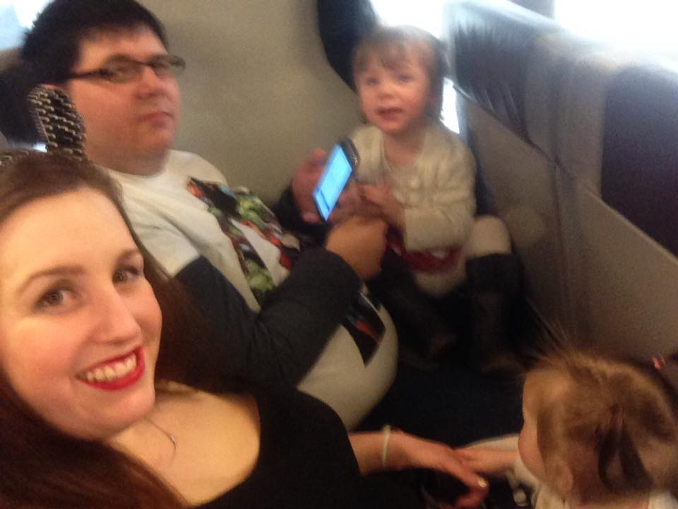 Sitting on the eurostar, not much space