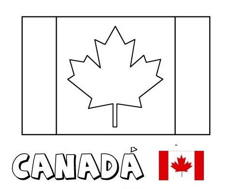 Geography Blog: Bandera de Canadá para Colorear