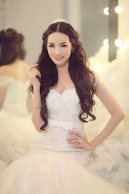 Truc Diem - An Angel beauty in wedding dresses