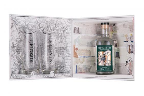 Sipsmith Gin avec Lunettes boîte cadeau