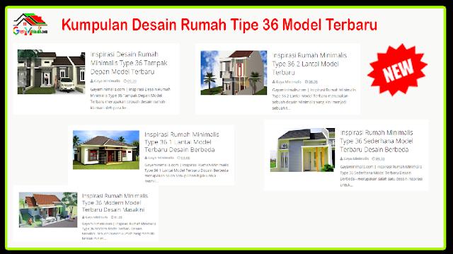 Kumpulan Desain Rumah Tipe 36 Model Terbaru
