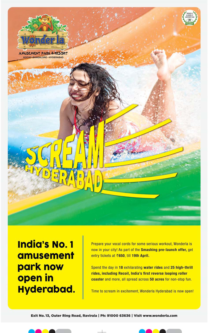 India's No 1 Amusement park - Wonderla - Now open in Hyderabad with pre launch offer | April 2016 discount offers