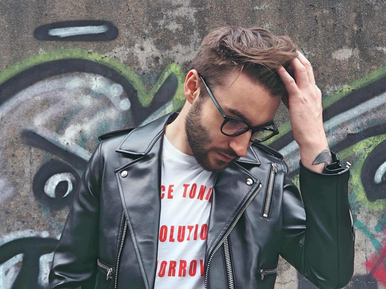 Aprill77 leather jacket t-shirt blog mens fashion bristol blogger outd rebirth of the cool