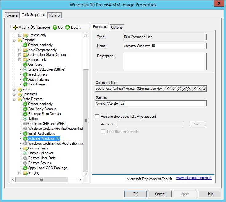 Random IT stuff: MDT deployment Windows activation