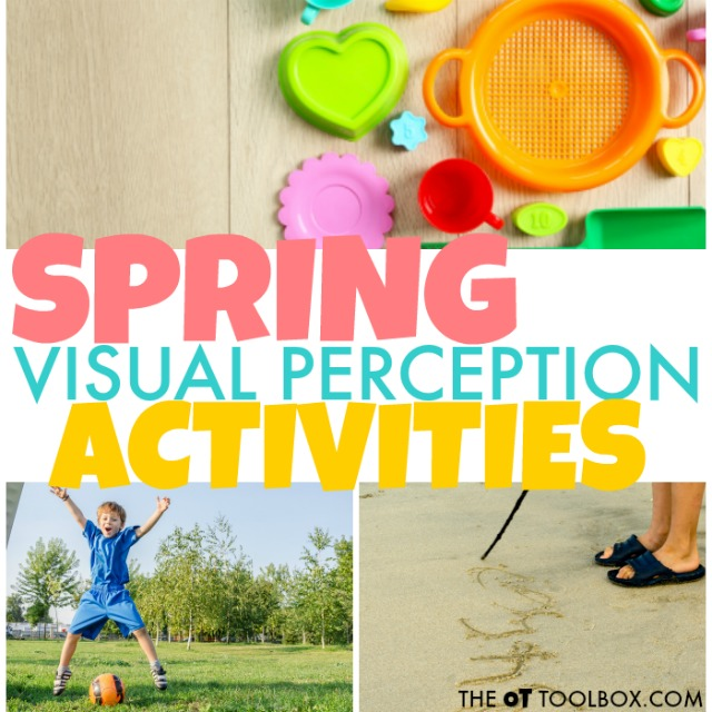 Working on visual perceptual skills in kids to help with handwriting, reading, or other skills? These spring themed visual perception activities will help.