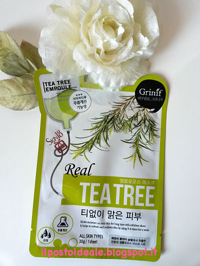 Grinif Real Tea Tree Cellulose Facial Mask