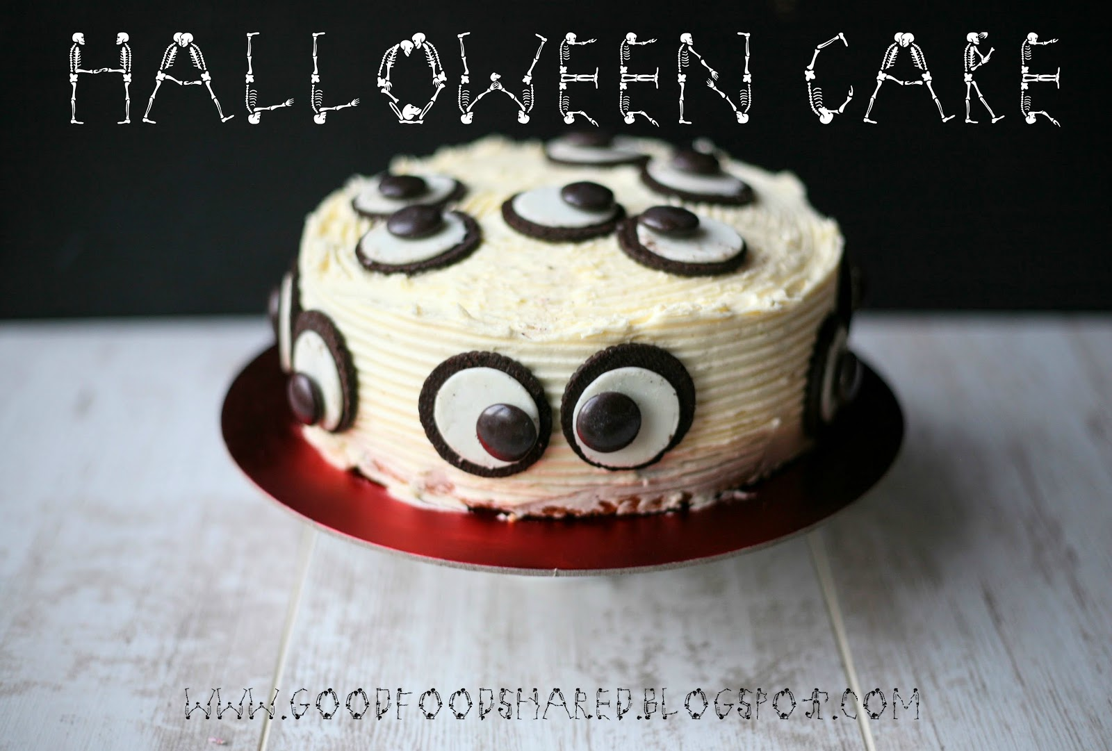 Halloween Cake, easy and tasty. Thank you The Cake Blog for your wonderful cake!  www.goodfoodshared.blogspot.com