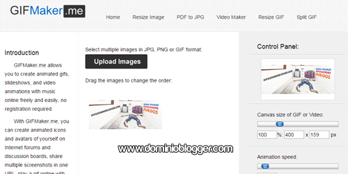 Crea GIF animados y con sonidos usando Gif Maker