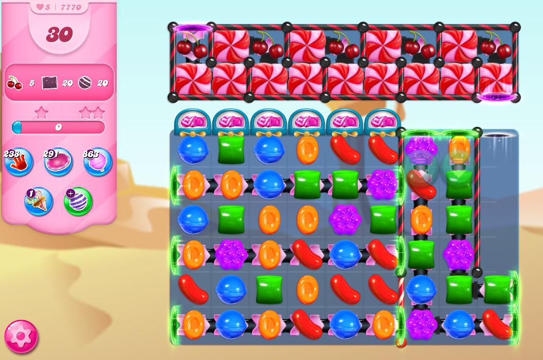 Candy Crush Saga level 7770