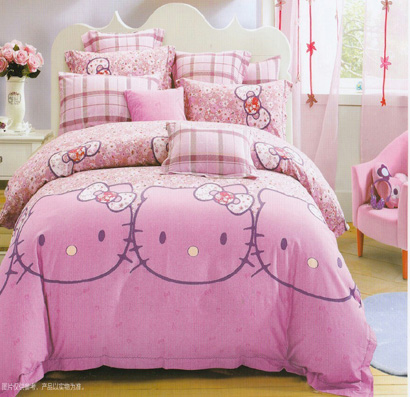 Sprei Anak Cantik Motif Hello Kitty