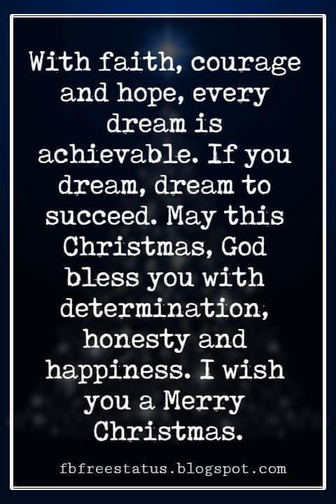 Merry Christmas Blessings, Christmas Blessings