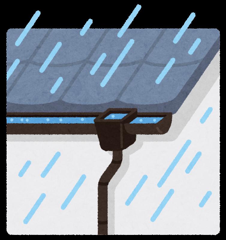 雨どいのイラスト | かわいいフリー素材集 いらすとや