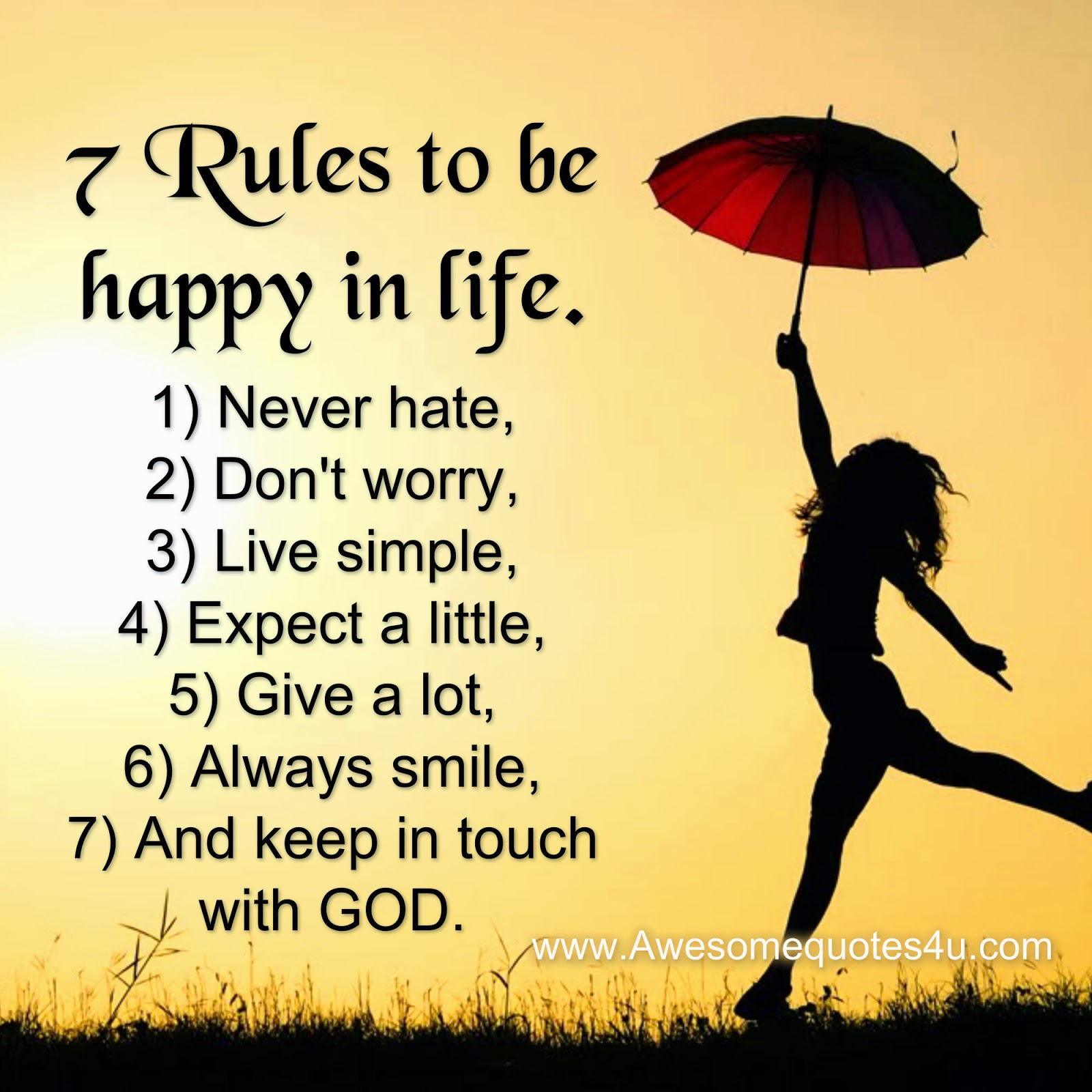 7 Rules Of Life Quote: Awesome Quotes: February 2015