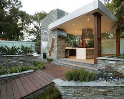 gambar dapur outdoor terpisah