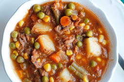 FASHIONED VEGETABLE BEEF SOUP