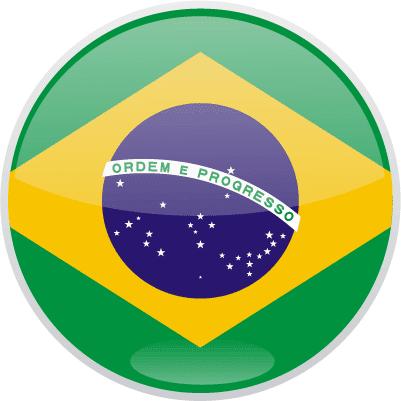 Botón con bandera de Brasil - Vector