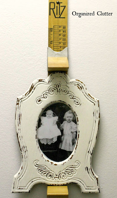 Ritz Foot Scale Repurposed Photo Frame Holder www.organizedclutter.net