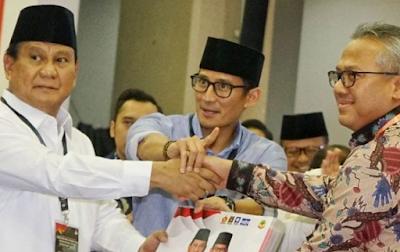 Tim Prabowo-Sandiaga Menepis Tudingan Penguasa Tanah.