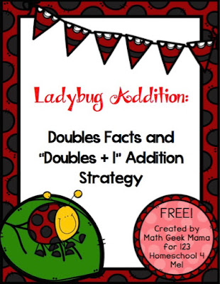 Ladybug Doubles Addition Practice