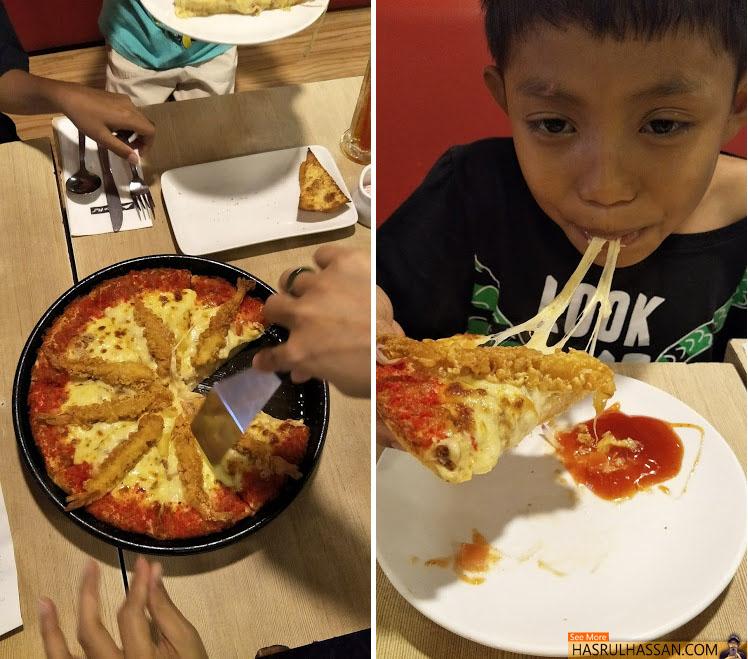 Sedapnya Golden Fortune Pizza Tempura Prawn Pizza Hut 2017