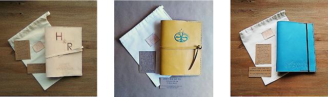 regalos cuero personalizados grabados iniciales nombres logos monogramas dibujos colores ecológico artesanal made in spain