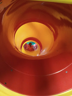 red and yellow slide