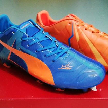 Sepatu Soccer - Puma Evopower Tricks Blue Orange Made in China 0cb9539315
