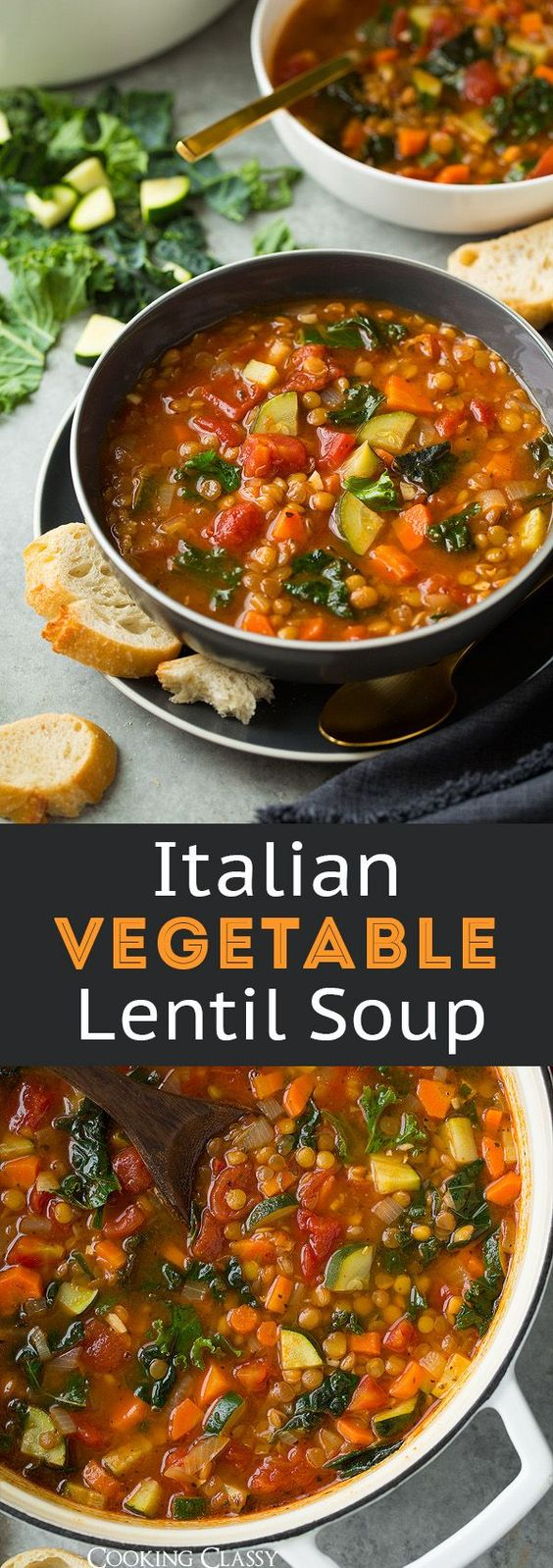 Lentil Soup (Italian Vegetable) #lentil #soup #italian #vegetable
