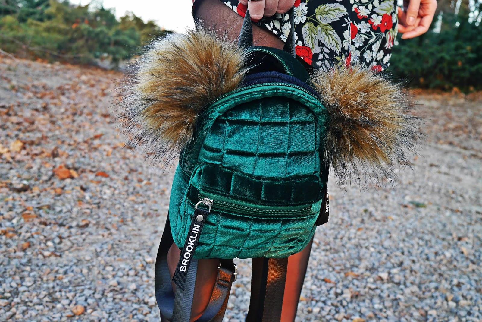 welurowy zielony plecak bonprix karyn blog modowy