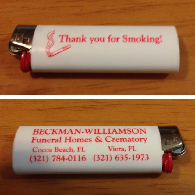 Thank you for Smoking - lighter - Beckman-Williamson Funeral Homes & Crematory