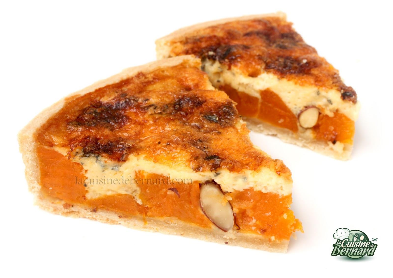 la cuisine de bernard tarte sal e aux patates douces amandes et fromage bleu. Black Bedroom Furniture Sets. Home Design Ideas
