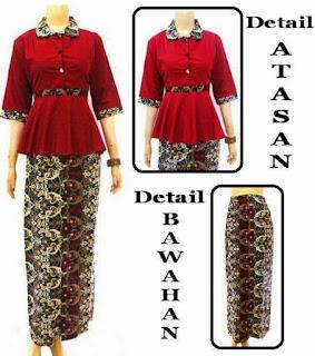 baju batik setelan muslim