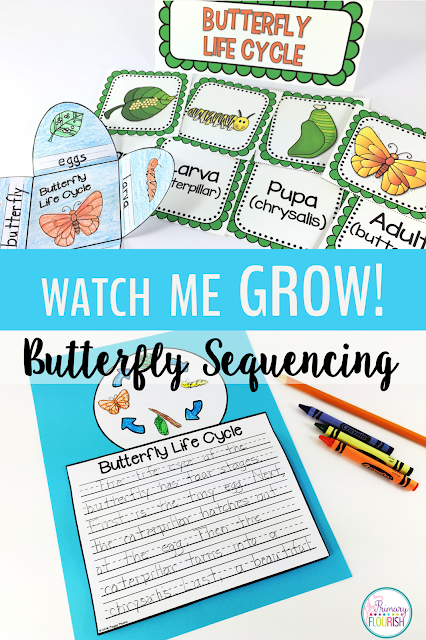 Butterfly Life Cycle Sequencing Interactive Notebook Activities, Expository Writing & More! No time for science? Make it part of your writing block! These interactive notebook and labeling activities will provide students with all the information they need to produce an informative writing piece about the sequence of the butterfly's life cycle.