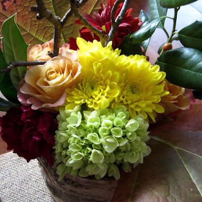 easy Thanksgiving flowers